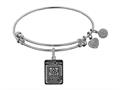 Angelica Collection Brass with White Finish Proud Mom U.S. Army Expandable Bangle