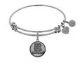 Angelica Collection Brass with White Finish U.S. Army Strong Round Expandable Bangle
