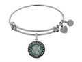 Angelica Collection Brass with White Finish U.S. Army Enamel Symbol Expandable Bangle