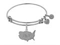 Brass White Finish Usa Charm On White Angelica Collection Bangle