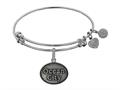 Brass White Finish Ocean City Charm On White Angelica Collection Bangle
