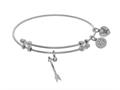 Brass With White Arrow Charm On White Angelica Collection Ban Gle