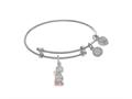 Angelica Collection Brass With White Angel Praying Charm On White Ange Lica Tween Bangle