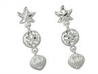 Finejewelers 925 Sterling Silver Star Fish Sand Dollar Shell Sea Life Earrings Style number: 460340CD