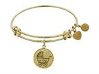 Angelica Collection Non-antique Yellow Stipple Finish Brass new Mom Expandable Bangle Style number: GEL1026
