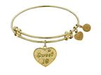 """Angelica Collection Non-antique Yellow Stipple Finish Brass """"sweet 16"""" Expandable Bangle Style number: GEL1051"""
