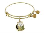 Brass With Yellow Panda Charm Charm For Angelica Collection Bangle Style number: GEL1373