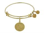 Brass With Yellow Oval Engravable Charm For Angelica Collection Bangle Style number: GEL1387
