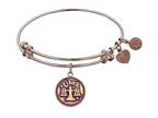 "Angelica Collection Antique Pink Smooth Finish Brass ""libra""-september Expandable Bangle Style number: PGEL1065"