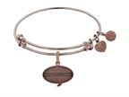 Angelica Collection Brass with Pink Finish Friends How You Doing Expandable Bangle Style number: PGEL1300