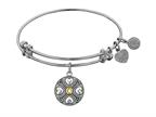 Angelica Collection Antique White Finish Brass November Simulated Expandable Bangle Style number: WGEL1192