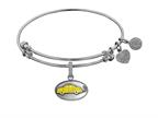 Angelica Collection Brass with White Finish Friends Phoebe's Taxi Expandable Bangle Style number: WGEL1295