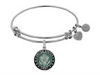 Angelica Collection Brass with White Finish U.S. Army Enamel Symbol Expandable Bangle Style number: WGEL1315