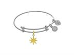 Brass With White Finish Enamel Sun Charm On White Angelica Collection Tween Bangle Style number: WTGEL9129