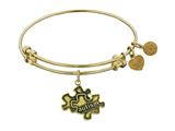 Angelica Collection Antique Yellow Smooth Finish Brass Generation Rescue autism Expandable Bangle style: GEL1209