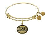 Angelica Collection Brass with Yellow Finish U.S. Navy Honor. Courage. Commitment. Expandable Bangle style: GEL1320