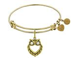 Brass With Yellow Finish Owl Angelica Collection Bangle For Angelica Collection Bangle style: GEL1351