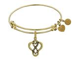 Brass With Yellow Eternal Love Heart Charm For Angelica Collection Bangle style: GEL1357