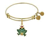 Brass With Yellow Enamel Frog Charm For Angelica Collection Bangle style: GEL1358
