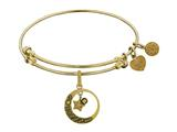 Brass With Yellow Love You To The Moon and Back Charm For Angelica Collection Bangle style: GEL1360