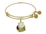 Brass With Yellow Panda Charm Charm For Angelica Collection Bangle style: GEL1373