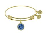 Brass With March Birth Month On Yellow Angelica Collection Bangle style: GEL1417