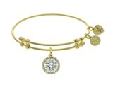 Angelica Collection Brass With Yellow April Birth Month On Yellow Bangle style: GEL1418