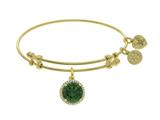 Angelica Collection Brass With Yellow May Birth Month On Yellow Bangle style: GEL1419