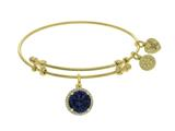 Brass With September Birth Month On Yellow Angelica Collection Bangle style: GEL1423