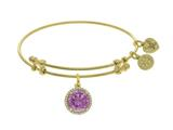 Brass With October Birth Month On Yellow Angelica Collection Bangle style: GEL1424