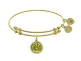 Brass With November Bithstone On Yellow Angelica Collection Bangle style: GEL1425