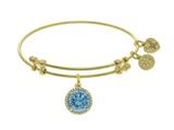 Angelica Collection Brass With Yellow December Birth Month On Yellow Bangle style: GEL1426