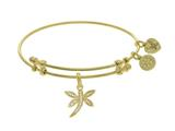 Brass With Yellow Dragonfly Charm On Yellow Angelica Collection Bangle style: GEL1699