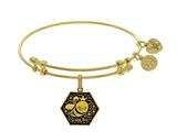 Brass With Yellow Finish Queen Bee Enamel Charm Fo R Angelica Collection Bangle style: GEL1786