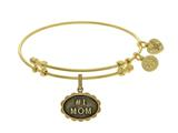Brass With Yellow Finish #1 Mom Charm ForAngelica Bangle style: GEL1788