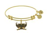 Brass With Yellow Finish In Loving Memory Of Dad C Harm For Angelica Collection Bangle style: GEL1794