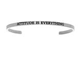 "Intuition Stainless Steel ""attitude Is Everything""Cuff Bangle style: INT5001"
