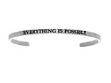 "Intuition Stainless Steel ""everything Is Possible""Cuff Bangle style: INT5009"