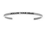 "Intuition Stainless Steel ""follow Your Heart""Cuff Bangle style: INT5010"