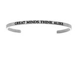 "Intuition Stainless Steel ""great Minds Think Alike""Cuff Bangle style: INT5014"