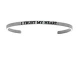 "Intuition Stainless Steel ""i Trust My Heart""Cuff Bangle style: INT5016"