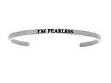 "Intuition Stainless Steel ""i'm Fearless""Cuff Bangle style: INT5019"