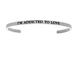 "Intuition Stainless Steel ""i""m Addicted To Love""Cuff Bangle style: INT5021"
