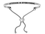 "Intuition Stainless Steel ""attitude Is Everything""adjustable Friendship Bracelet style: INT7002"