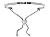"Intuition Stainless Steel ""dream Big""adjustable Friendship Bracelet style: INT7006"