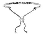 "Intuition Stainless Steel ""embrace The Moment""adjustable Friendship Bracelet style: INT7007"