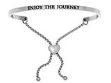 "Intuition Stainless Steel ""enjoy The Journey""adjustable Friendship Bracelet style: INT7008"
