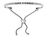 "Intuition Stainless Steel ""love Yourself""adjustable Friendship Bracelet style: INT7035"