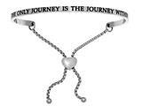 "Intuition Stainless Steel ""the Only Journey Is The Journey In""adjustable Friendship Bracelet style: INT7048"