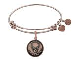 Angelica Collection Brass with Pink Finish Aim High U.S. Air Force Round Expandable Bangle style: PGEL1288